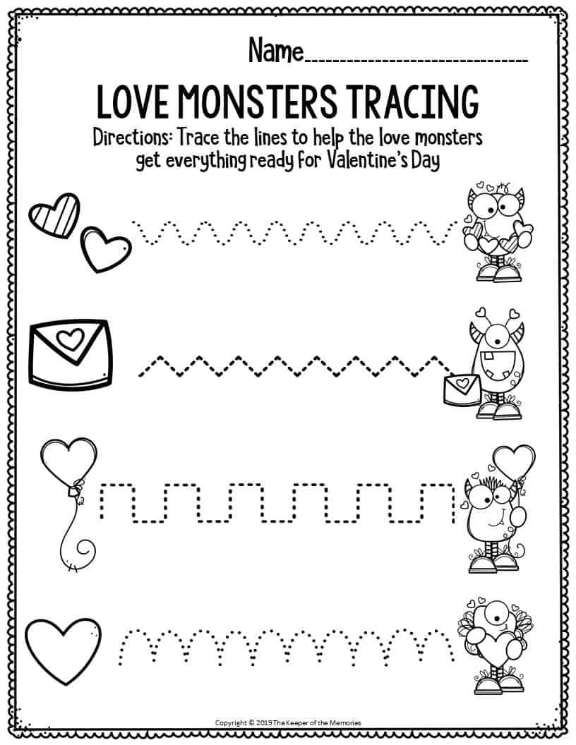 Kindergarten Valentines Day Worksheets